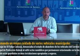 IU demanda un mayor cuidado de varios vehículos municipales
