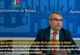 """""""Badajoz ya no será la piedra angular de la política de la Junta"""""""
