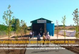 Nueva planta depuradora de aguas residuales en Corazón de Jesús