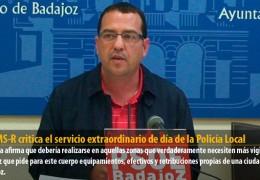 El GMS-R critica el servicio extraordinario de día de la Policía Local