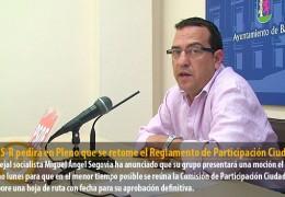 El GMS-R pedirá en Pleno que se retome el Reglamento de Participación Ciudadana