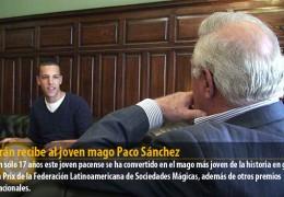 Celdrán recibe al joven mago Paco Sánchez