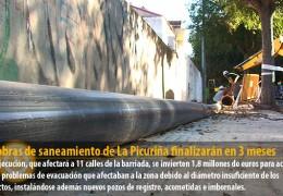 Las obras de saneamiento de La Picuriña finalizarán en 3 meses