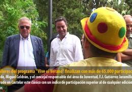 """Los talleres del programa """"Vive el Verano"""" finalizan con más de 65.000 participaciones"""