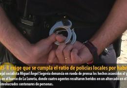 El GMS-R exige que se cumpla el ratio de policías locales por habitante