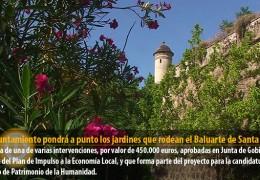 El Ayuntamiento pondrá a punto los jardines que rodean el Baluarte de Santa María