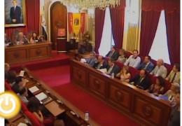 Pleno de septiembre de 2011 del Ayuntamiento de Badajoz