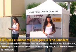 RENFE refuerza sus líneas con Zafra para la Feria Ganadera