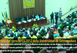 Apertura del curso 2011-2012 de la Universidad de Extremadura