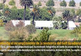 IU denuncia el incumplimiento de la sentencia del Golf Guadiana