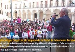 300 menores participan en el Campeonato de Pádel de Selecciones Autonómicas