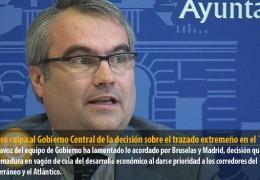 Fragoso culpa al Gobierno Central de la decisión sobre el trazado extremeño en el `Eje 16´