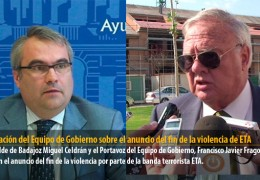 Valoración del Equipo de Gobierno sobre el anuncio del fin de la violencia de ETA