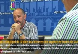 El grupo municipal de IU pide una intervención urgente en Suerte de Saavedra