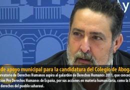 IU pide apoyo municipal para la candidatura del Observatorio de Derechos Humanos del Colegio de Abogados