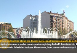 200.000 euros de ahorro al año por 4 horas menos en el funcionamiento de las fuentes