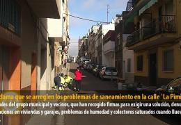 IU reclama que se arreglen los problemas de saneamiento en la calle `La Pimienta´