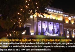 La Navidad ya ilumina Badajoz con un 12% menos en el consumo