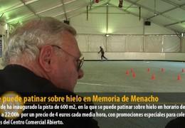 Ya se puede patinar sobre hielo en Memoria de Menacho