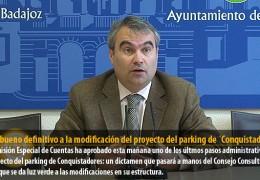 Visto bueno definitivo a la modificación del proyecto del parking de ´Conquistadores´