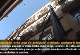 El Ayuntamiento remite cartas a los propietarios de viviendas con riesgo de derrumbe