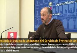 IU denuncia el estado de abandono del Servicio de Protección Animal
