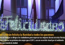 Miguel Celdrán felicita la Navidad a todos los pacenses