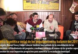 IU critica la política social de los populares en su balance del 2011