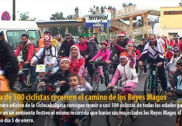 Cerca de 500 ciclistas recorren el camino de los Reyes Magos