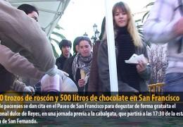 7.000 trozos de roscón y 500 litros de chocolate en San Francisco