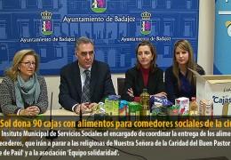 Caja Sol dona 90 cajas con alimentos para comedores sociales de la ciudad