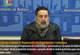 IU insiste en reclamar el Reglamento de Participación Ciudadana