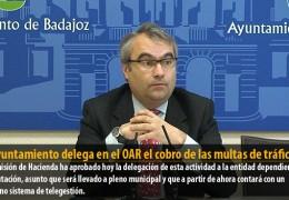 El Ayuntamiento delega en el OAR el cobro de las multas de tráfico