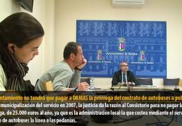 El Ayuntamiento no tendrá que pagar a DAMAS la prórroga del contrato de autobuses a poblados