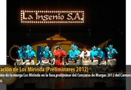 Actuación de Los Mirinda (Preliminares 2012)