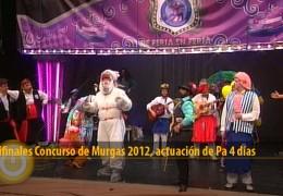 Actuación de Pa 4 Días (Semifinales 2012)