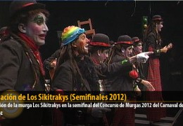 Actuación de Los Sikitrakys (Semifinales 2012)