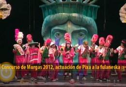 Actuación de Pixa a la Fulaneska (Final 2012, 8º puesto)
