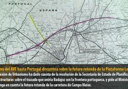 El tramo del AVE hasta Portugal discurriría sobre la futura rotonda de la Plataforma Logística