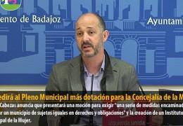 IU pedirá al Pleno Municipal más dotación para la Concejalía de la Mujer