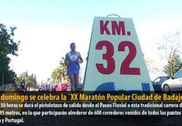 Este domingo se celebra la `XX Maratón Popular Ciudad de Badajoz´