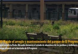 El GMS-R pide el arreglo y mantenimiento del parque de El Progreso