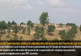 La Mesa de Contratación ratifica la adjudicación del proyecto del Fuerte de San Cristóbal