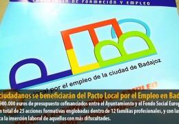 375 ciudadanos se beneficiarán del Pacto Local por el Empleo en Badajoz