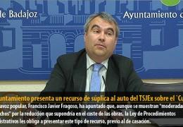 El Ayuntamiento presenta un recurso de súplica al auto del TSJEx sobre el `Cubo´