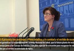 El GMS-R presenta tres mociones a Pleno relativas a la sanidad y el vertido de escombros