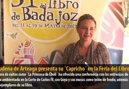 Almudena de Arteaga presenta su `Capricho´ en la Feria del Libro