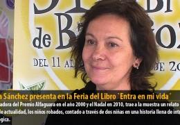 Clara Sánchez presenta en la Feria del Libro `Entra en mi vida´