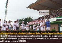3.000 niños participarán el sábado en la clausura de las Escuelas Deportivas Municipales