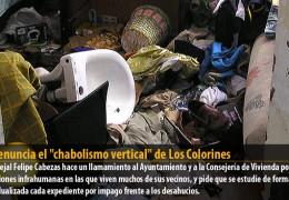 """IU denuncia el """"chabolismo vertical"""" de Los Colorines"""